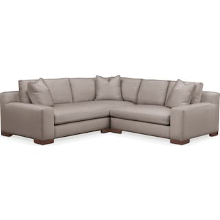 Ethan Comfort 2-Piece Small Sectional with Right-Facing Loveseat - Abington TW Fog