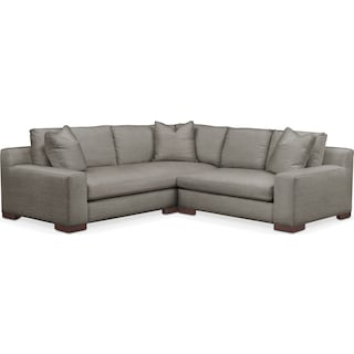 Ethan Cumulus 2-Piece Small Sectional with Right-Facing Loveseat - Victory Smoke