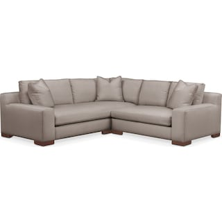 Ethan Cumulus 2-Piece Small Sectional with Right-Facing Loveseat - Abington TW Fog