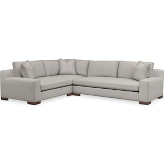 Ethan Comfort 2-Piece Large Sectional with Right-Facing Sofa - Dudley Gray