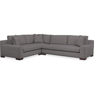 Ethan Comfort Performance 2-Piece Large Sectional with Right-Facing Sofa - Benavento Stone