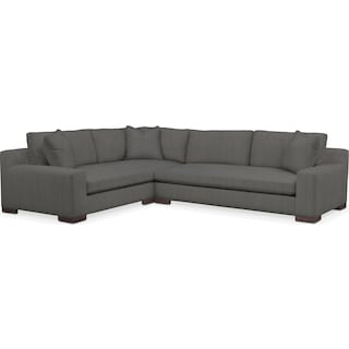 Ethan Comfort Performance 2-Piece Large Sectional with Left-Facing Sofa - Peyton Pepper