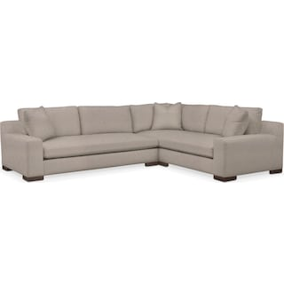 Ethan Comfort 2-Piece Large Sectional with Left-Facing Sofa - Weddington Cement