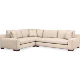 Ethan Cumulus Performance 2-Piece Large Sectional with Right-Facing Sofa - Halifax Shell