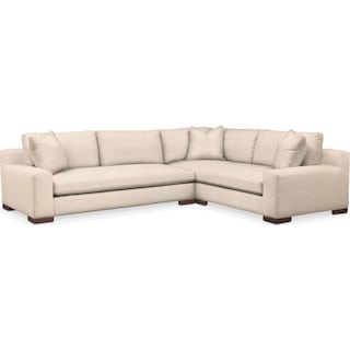 Ethan Comfort Performance 2-Piece Large Sectional with Left-Facing Sofa - Halifax Shell