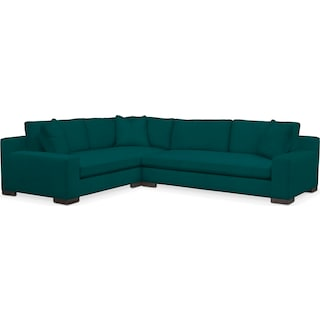 Ethan Comfort 2-Piece Large Sectional with Right-Facing Sofa - Toscana Peacock