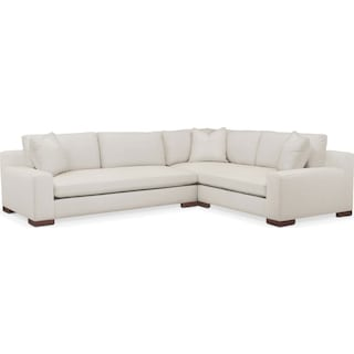 Ethan Comfort 2-Piece Large Sectional with Left-Facing Sofa - Anders Ivory