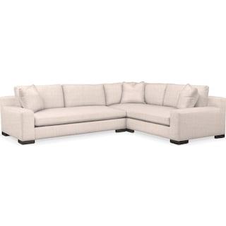 Ethan Comfort 2-Piece Large Sectional with Left-Facing Sofa - Mason Porcelain