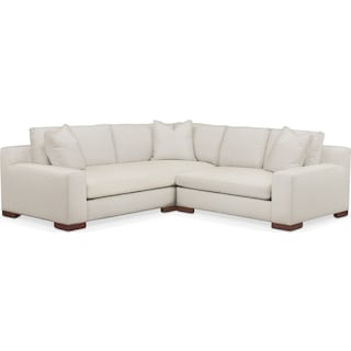 Ethan Comfort 2-Piece Small Sectional with Right-Facing Loveseat - Anders Ivory
