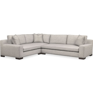 Ethan Cumulus 2-Piece Large Sectional with Right-Facing Sofa - Ivory