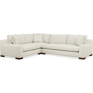 Ethan Cumulus 2-Piece Large Sectional with Right-Facing Sofa - Anders Ivory