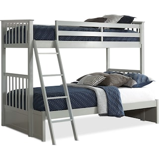 Flynn Twin over Full Bunk Bed - Gray