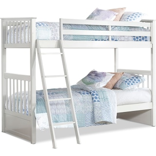Flynn Twin over Twin Bunk Bed - White