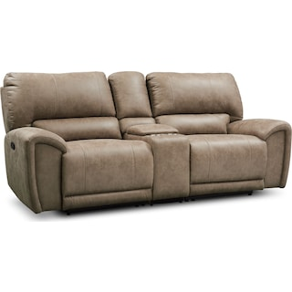 Gallant 3-Piece Manual Reclining Sofa with Console - Taupe