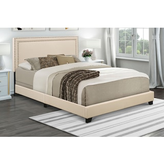 Grace Queen Upholstered Bed - Cream