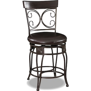 Grandview Counter-Height Stool - Brown