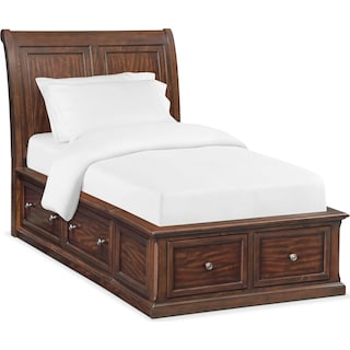 Hanover Youth Full Sleigh Storage Bed - Cherry