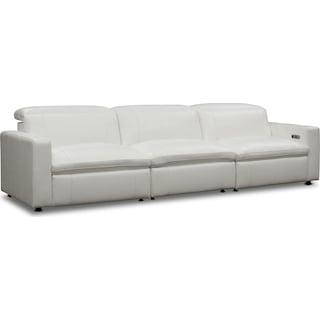 Happy 3-Piece Dual-Power Reclining Sofa - White