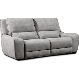 Holden 2-Piece Dual-Power Reclining Sofa - Stone