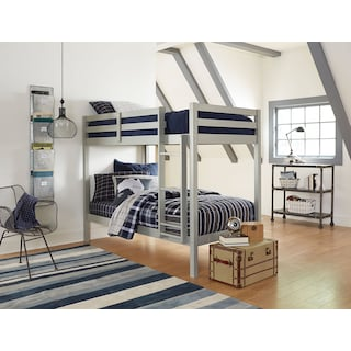 Hudson Twin Bunk Bed - Gray