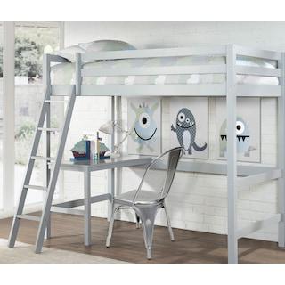 Hudson Twin Loft Bed - Gray