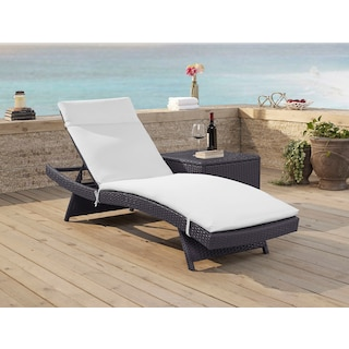 Isla Outdoor Chaise Lounge - White