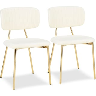 Ivy Set of 2 Dining Chairs - Cream