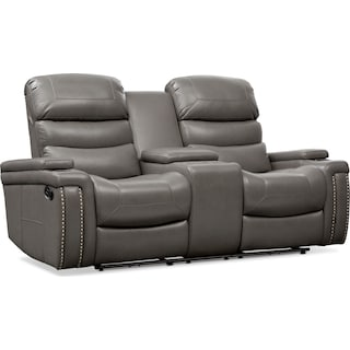 Jackson Manual Reclining Loveseat - Gray