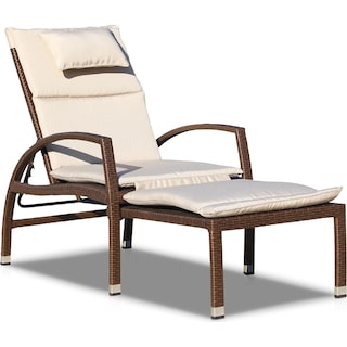 Jetty Outdoor Chaise Lounge - Brown