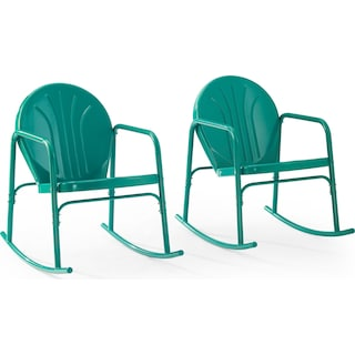 Kona Set of 2 Outdoor Rocking Chairs - Turquoise