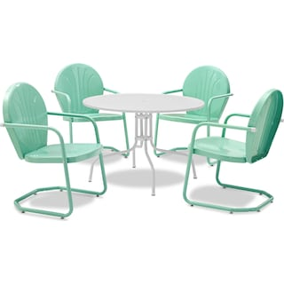 Kona 5-Piece Outdoor Dining Set - Aqua