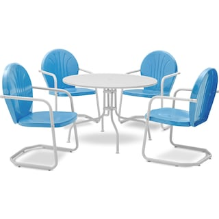Kona 5-Piece Outdoor Dining Set - Sky Blue