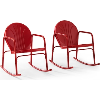 Kona Set of 2 Outdoor Rocking Chairs - Red