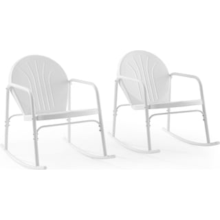 Kona Set of 2 Outdoor Rocking Chairs - White