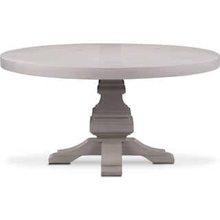 Lancaster Round Wood Top Table - Water White