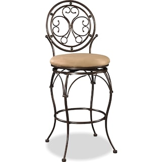Laurel Bar Stool - Bronze