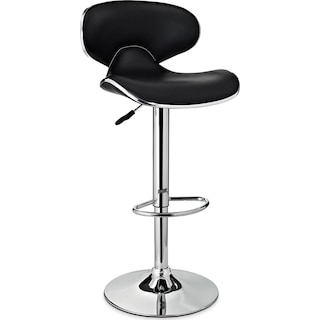 Liv Adjustable Bar Stool - Black