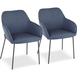 Liv Set of 2 Dining Chairs - Blue