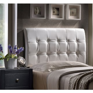 Lusso Queen Upholstered Headboard - White