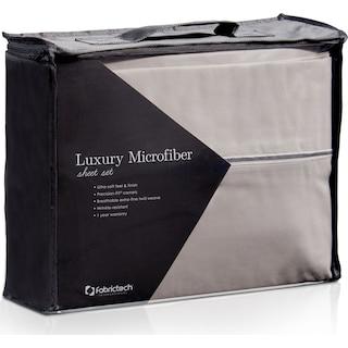 Luxe Microfiber King Sheet Set - Gray