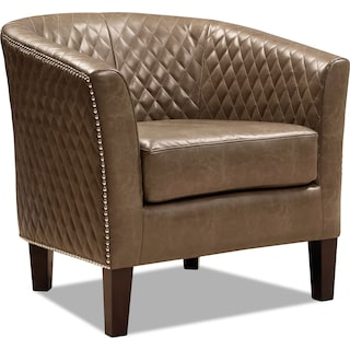 Luxor Accent Chair - Brown