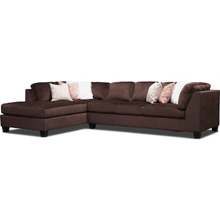 Mackenzie 2-Piece Sectional with Left-Facing Chaise - Brown