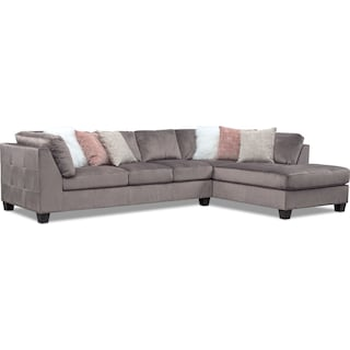 Mackenzie 2-Piece Sectional with Right-Facing Chaise - Gray