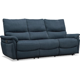 Maddox 2-Piece Manual Reclining Sofa - Blue