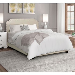 Maeve King Upholstered Bed - Cream