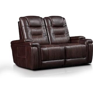 Magnus 2-Piece Triple-Power Reclining Sofa - Brown