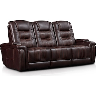Magnus 3-Piece Triple-Power Reclining Sofa with 2 Reclining Seats - Brown