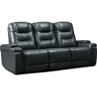 Magnus 3-Piece Triple-Power Reclining Sofa with 3 Reclining Seats - Gray