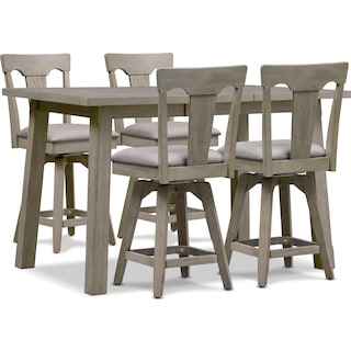 Maxton Counter-Height Dining Table and 4 Stools