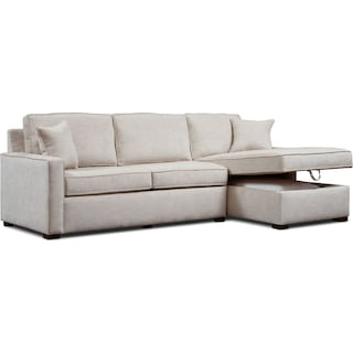 Mayson 2-Piece Sectional with Right-Facing Chaise - Beige
